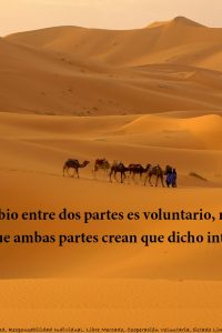 Smith e intercambio voluntario caravana en sahara